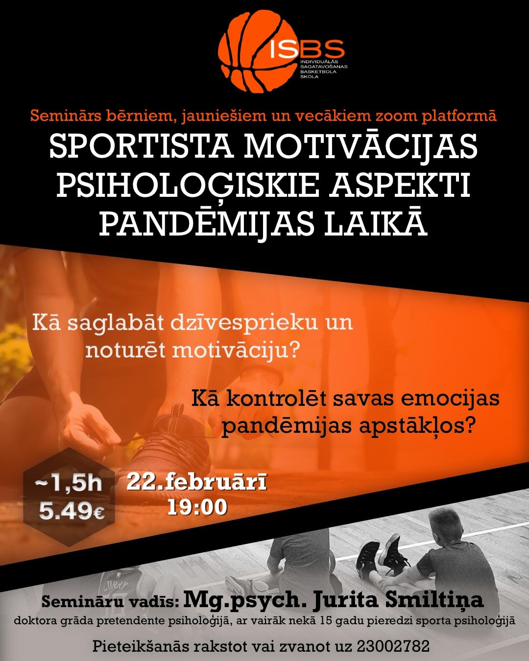 Seminārs: Sportista motivācijas psiholoģiskie aspekti pandēmijas laikā